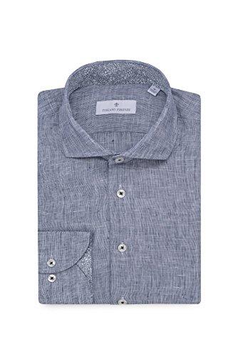 TOSCANO FIRENZE Slub Heather Textured Lightweight Linen - Linen Shirt Toscano
