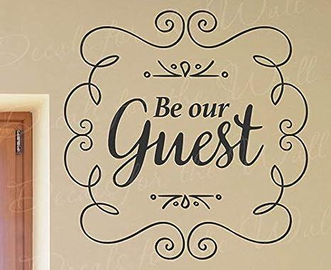 Amazon.com: Pegatinas para ser nuestro invitado, puerta ...