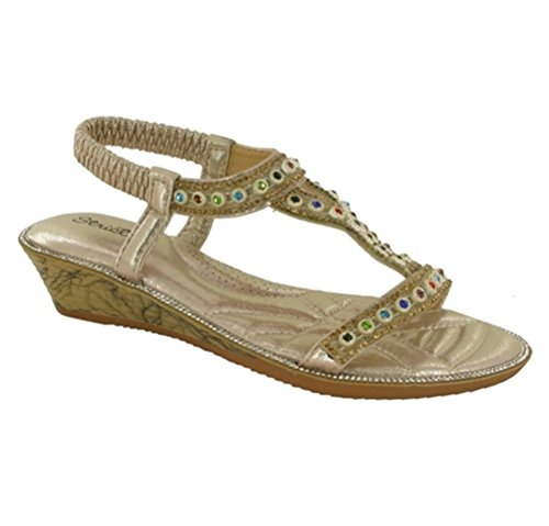 Back Open Toe Sandal Party Ladies Strictly New Dorado Sling w4qxfZC