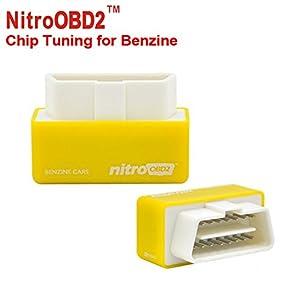 Dispositif d'accord OBD de jet d'essence de jaune de V2 de nitro pour tous les modèles de voiture