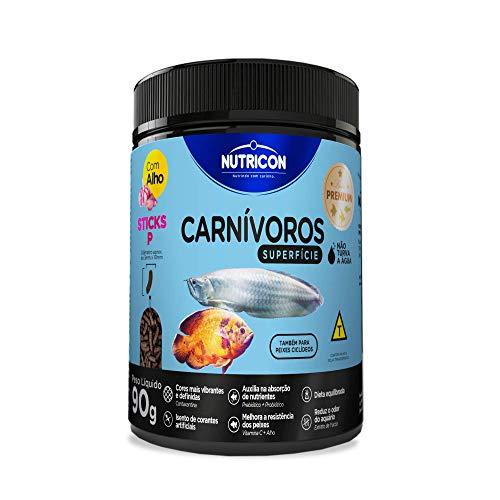 Carnívoros Superficie Tamanho P 90gr Nutricon Para Peixe Tropical Todas As Fases