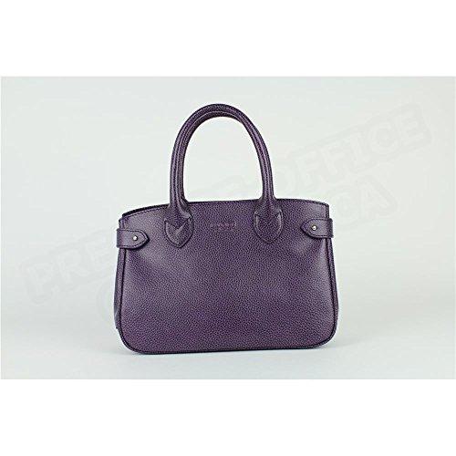 Mini sac Cabas Shopping Paris cuir Violet Beaubourg