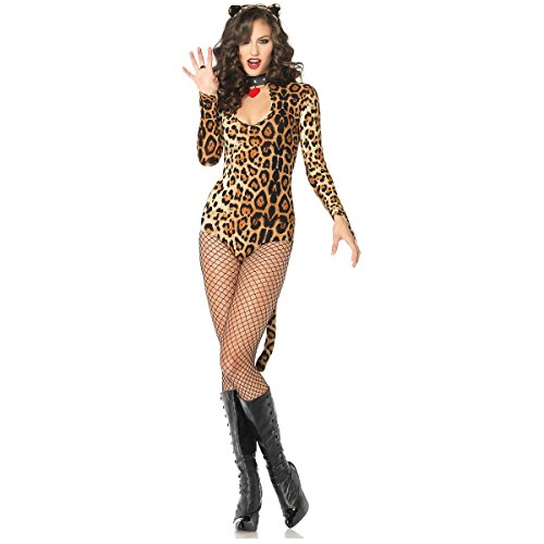 Wicked Wildcat Costume - Medium/Large - Dress Size (Leg Avenue Faux Rhinestone)