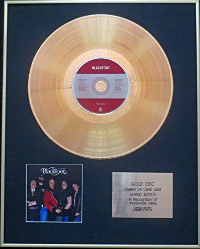 Century Presentations - Blackfoot - Exclusive Limited Edition 24 Carat Gold Disc - Siogo