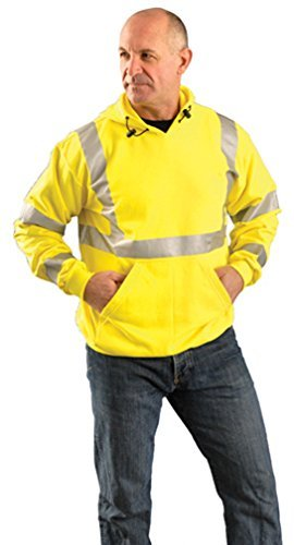 - Stay Warm - PREMIUM Flame Resistant Pullover Hoodie - Hi Viz - 3X-EACH by Haynesville