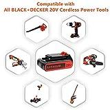 2 Pack LBXR20 Battery 2500mAh Replace for Black and Decker 20V Battery Max Lithium LB20 LBX20 LST220 LBXR2020-OPE LBXR20B-2 LB2X4020 Cordless Tool Battery