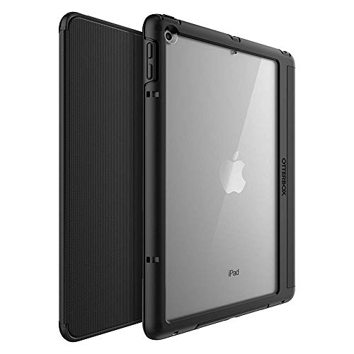 OtterBox Symmetry Folio Series Case for iPad (5th and 6th Generation) - Retail Packaging - Starry Night - (Clear/Black/Dark Grey MICROSUED) (Renewed)