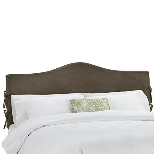 Skyline Furniture Queen Slipcover Headboard in Velvet Pewter - Upholstered Headboard Slipcover