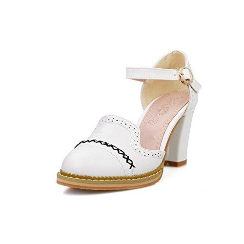 Mesdames souple Matière creux Blanc Sandales balamasa outthread 7SzPnwnq