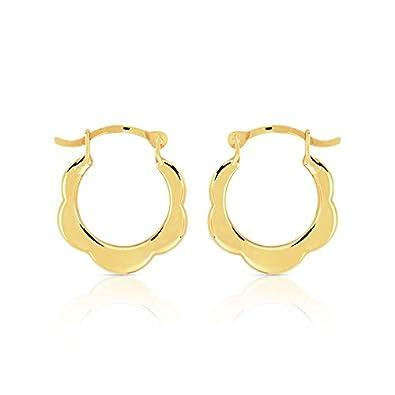 grossiste dernière vente magasiner pour véritable Maty 0503606 - Creole 375 Yellow Gold: Amazon.co.uk: Jewellery