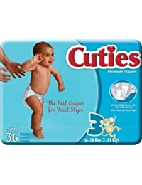 Cuties Baby Diapers Size 3 16-28 LBS. (Pack of 4/36) BOBEBE Online Baby Store From New York to Miami and Los Angeles