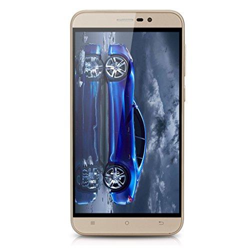 CUBOT Note S 5.5'' Ecran HD IPS 3G Smartphone Android 5.1 MT6580 Quad Core 1,3 GHz Téléphone Mobile 2 Go RAM + 16 Go ROM Dual SIM HotKnot Portable WIFI Doré