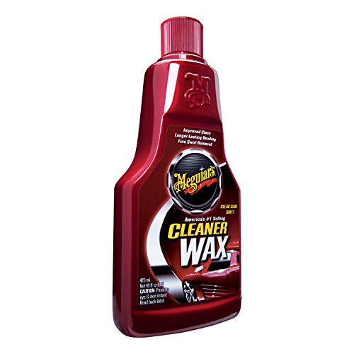 Meguiars Cleaner Wax  Liquid Wax Cleans, Shines and Protects in One Easy Step  A1216, 16 oz