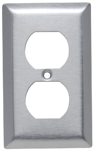 Legrand - Pass & Seymour SL8CC20 Stainless Steel Wall Plate Single Outlet 430 Easy ()