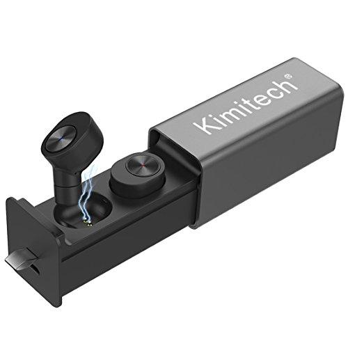 [해외] Kimitech Bluetooth이어폰 TWS이어폰 wireless 초경량 고음질 좌우 분리형 노이즈캔슬링 충전식 수납 케이스 첨부 와