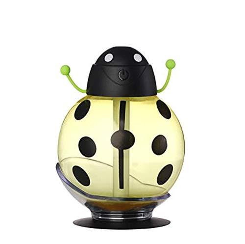 Cartoon Beetle Shape Ultrasonic Mute Mist Aromatherapy Humidifier Air Purifier(Yellow 3.42in3.42in4.6in) ()