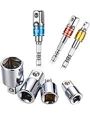 Adattatore Socket Bit Socket Adattatore Esagonale Impact Square Drive Hex Power Drill Bit, Socket Ratchet Converter Riduttori Adattatori Tool Set