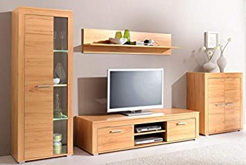Wohnwand Anbauwand Kernbuche Bv Vertrieb Wohnzimmerschrank Tv