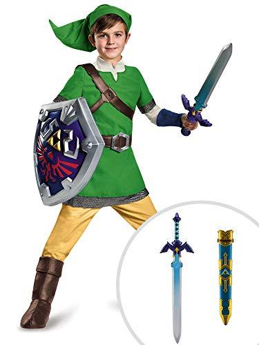 Legend of Zelda Link Costume Kit Deluxe Kids Medium With Sword