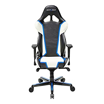 DXRacer Racing Series OH RH110 NWB Racing Seat Office Chair Gaming Ergonomic Adjustable Computer Chair with – Includes Head and Lumbar Support Pillow Black, White, Blue