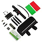 ORFORD Bike Repair Tool Kit Set with Pump 24 in 1 Mini Bike Tire Pump, Multi Function Bicycle Mechanic Repair Tool Kit, Multitool, Extend Tube, Bracket, Reflect Sticker, Schrader Presta Dunlop Valve