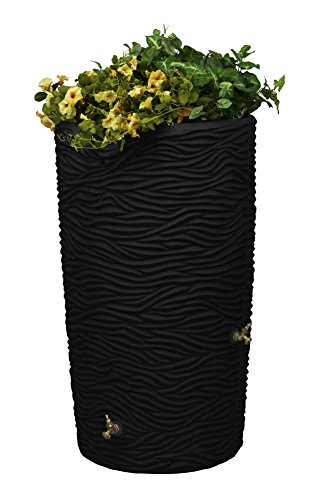 Good Ideas Imp-L65-Blk Impressions Palm Rain Saver, 65 Gallon, Black