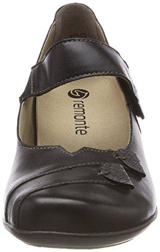 Tacón granit Para Negro schwarz Remonte De D7338 Zapatos Mujer HtxA4Z
