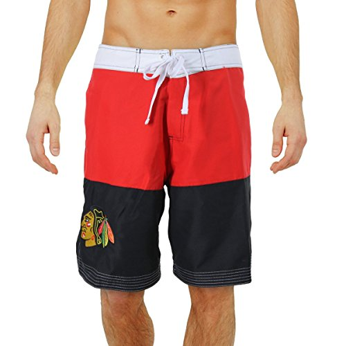 NHL Chicago Blackhawks Boardshorts (Medium) (Blackhawks Chicago Board Shorts)