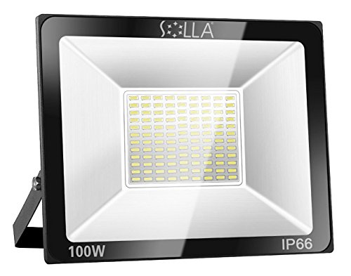 100W LED Floodlight IP66 Waterproof Outdoor Security Light, 8000LM, 6000K...