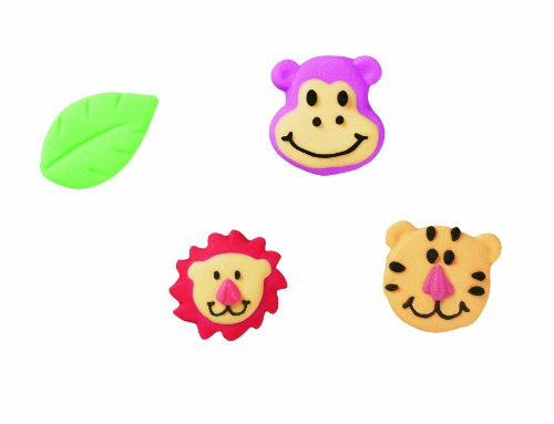 - Wilton Jungle Pals lcing Decorations, 12-Pack