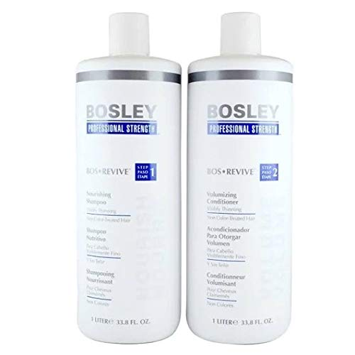 BosleyProfessional Revive Shampoo and Conditioner for Non Color Treated Hair Duo Set (33.8 (Hair Shampoo Conditioner)