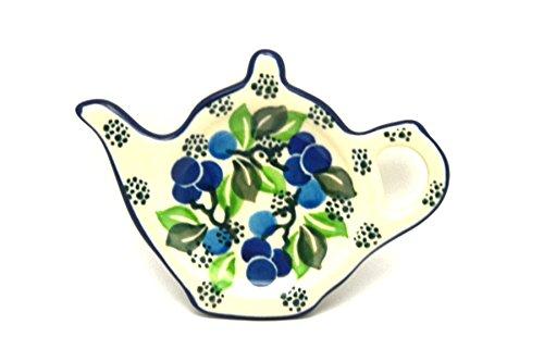 Polish Pottery Tea Bag Holder - Blue Berries