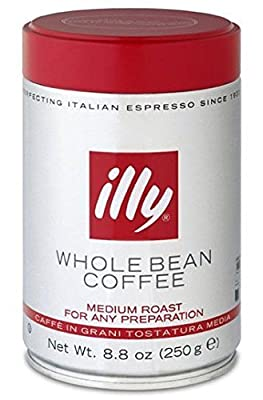 illy Caffe Normale Whole Bean Coffee, Medium Roast, 8.8 coffee cans (Pack of 6) Package may vary by illy