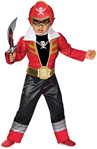 [Disguise  Toddler Super MegaForce Power Rangers Light-Up Costume, Large/4-6] (Power Rangers Megaforce Halloween)