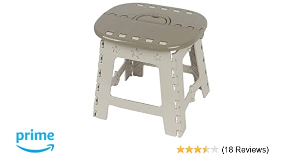 Portable Chair with Handle Khaki, 1Pack Folding Step Stool 11 Height