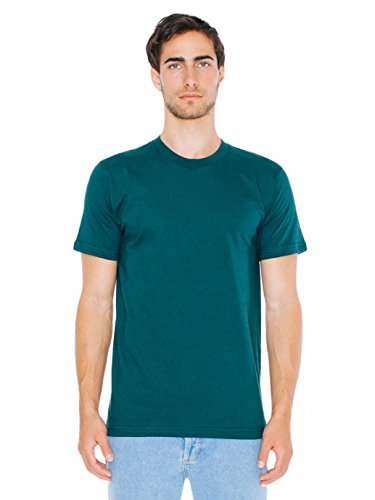 (American Apparel Men Fine Jersey Crewneck T-Shirt Size 2XL Forest)