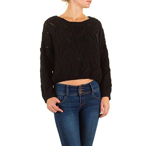 Schuhcity24 Pullover Damen Pulli Sweater Sweatshirt Long