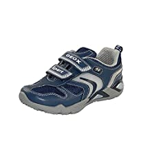 Geox SUPREME B Lighted Character Sneaker (Toddler/Little Kid/Big Kid),Navy/Silver,25 EU (8.5 M US Toddler)
