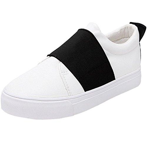 Minetom Mujer Chicas Ocio Estudiantes Lona Zapatos Moda Casual Plataforma Del Holgazán Zapatos Negro