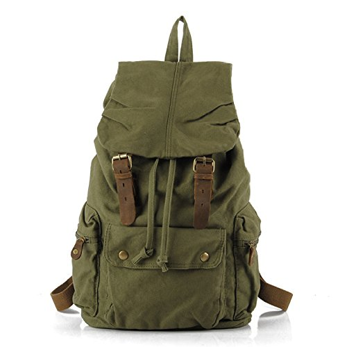 Capacidad Gran para green Darkblue De Mochila YXLONG De Backpack Hombre para College Mochila Backpack Mochila Lona AqwwfC8