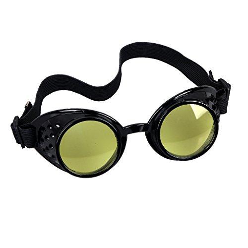 Careonline Adjustable STEAMPUNK GOGGLES Glasses Punk Sunglasses Eyewear Safty ()
