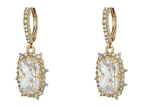 Alexis Bittar Women's Crystal Drop Earrings 10k Gold W/Rhodium One Size -