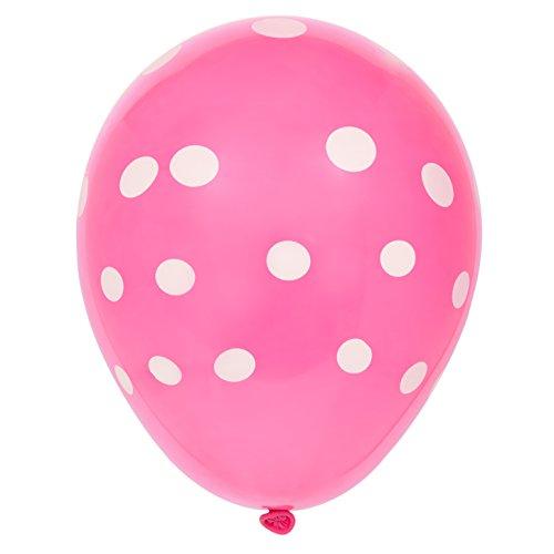 Latex Hot Pink Polka Balloons