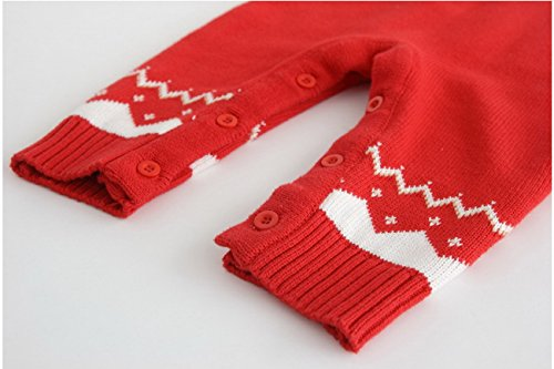 Noël Jumpsuit Manches Romper Tricoté À Vêtements Longues Wapitis Ahatech De Bébé Chapeau 1 Sweatshirt Tenue xTqv0n1