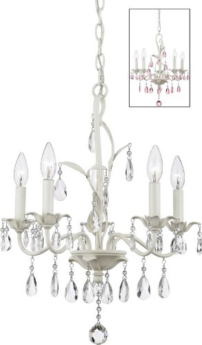 Quoizel OE5005AY Ophelia 22-Inch Chandelier with 5-Lights, Antique -