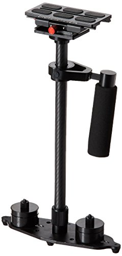 Fotasy HHC Carbon Fiber and Aluminum Alloy Hand Held Steadycam Stabilizer with Quick Release for Camcorders DSLR HD Video Camera (Black)