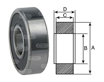Alternator Starter FAG Bearings 6003 2RS C3 Motor Grade Lucas Bosch
