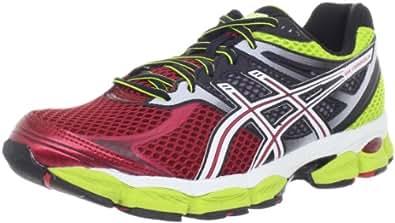 ASICS Men's Gel-Cumulus 14 Running Shoe,Red/White/Lime,11.5 M US