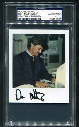 Don Mattingly PSA Dna Autographed Signed Polaroid Photo Vintage Original Photograph Yankees - Authentic Memorabilia
