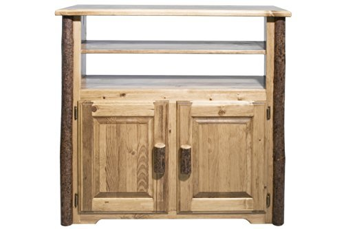 Montana Wood Cabinet - Montana Woodworks MWGCMC Glacier Country Collection Media Center